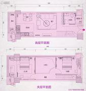 敏捷金谷国际0室0厅0卫56平方米户型图