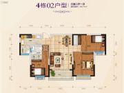 南宁・恒大名都3室2厅1卫111平方米户型图