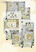 世纪嘉城3室2厅2卫130平方米户型图