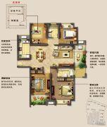 光明澜山4室2厅2卫132平方米户型图