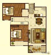 印象城・牛津花园2室2厅1卫93平方米户型图