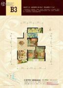 安粮蓝海城市广场3室2厅1卫0平方米户型图
