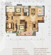 海尔地产国际广场3室2厅2卫145平方米户型图
