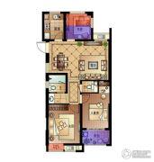 宋都・蓝郡国际3室2厅2卫89平方米户型图