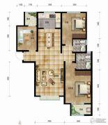 帝王国际3室2厅2卫128平方米户型图