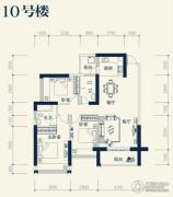 业和丰门盛世3室2厅2卫112平方米户型图