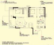万科大都会3室2厅2卫0平方米户型图