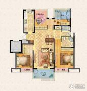 荣里3室2厅2卫113平方米户型图