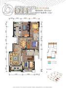 万科银海泊岸4室2厅2卫132平方米户型图