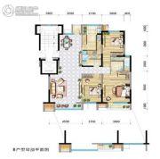 兴庆府大院3室2厅2卫136平方米户型图