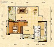 福庆花雨树2室2厅1卫91平方米户型图