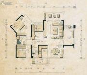 君和园3室2厅2卫130平方米户型图