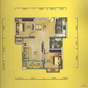 华侨城2室2厅1卫85平方米户型图