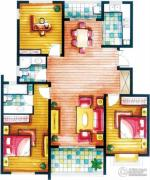 上书房3室2厅2卫134平方米户型图