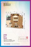 乾道・SOHO时代1室1厅1卫65平方米户型图