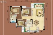复地御香山花香谷3室2厅2卫105平方米户型图