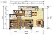 泰博理想城2室2厅1卫0平方米户型图