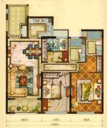 宏地・金玉府3室2厅0卫95平方米户型图