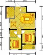 中天优诗美地2室2厅1卫93平方米户型图