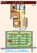 亚华桂竹园3室2厅1卫106平方米户型图
