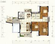 广佛颐景园4室2厅2卫133平方米户型图