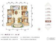 紫瑞华庭4室2厅2卫150--155平方米户型图