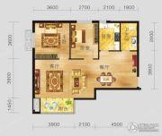 恩施国际商贸城2室2厅1卫94平方米户型图