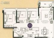 敏捷金月湾3室2厅2卫92平方米户型图