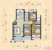 国际华城四期3室2厅2卫110平方米户型图