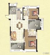 香榭一品2室2厅2卫131平方米户型图