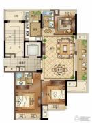 宝盈茗泓苑3室2厅2卫123平方米户型图