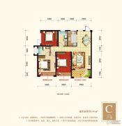 梧州旺城广场3室2厅2卫105平方米户型图