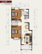 丰庆家园2室2厅1卫108平方米户型图