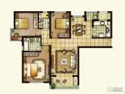 红星国际3室2厅2卫130平方米户型图