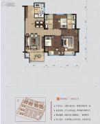 碧桂园・翘楚棠3室2厅2卫95平方米户型图
