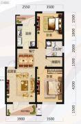 唐轩北廷2室2厅1卫81平方米户型图