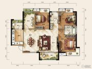 天玺二期3室2厅2卫123平方米户型图