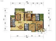 万象国际城2室2厅2卫119平方米户型图