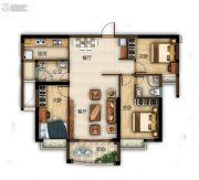 滨江熙岸3室2厅2卫106平方米户型图