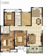 香榭里畔山兰溪3室2厅2卫132平方米户型图
