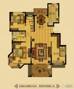 金鼎名府3室2厅2卫123平方米户型图