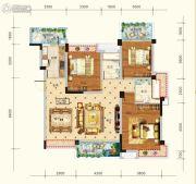 水润东都3室2厅2卫127平方米户型图