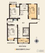 华天公馆3室2厅1卫122平方米户型图