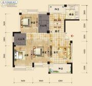 香岸华府二期3室2厅2卫133平方米户型图