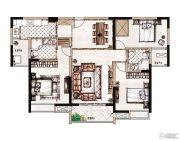 蓝惠首府3室2厅2卫122平方米户型图