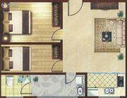 和信书香苑2室1厅1卫69平方米户型图