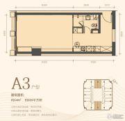 利是达星际广场1室1厅1卫64平方米户型图