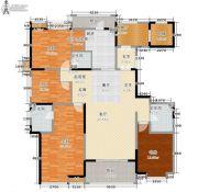 东岭国金中心4室0厅3卫184平方米户型图
