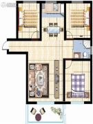 紫玉城3室2厅1卫0平方米户型图