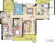 星河国际4室2厅3卫178平方米户型图